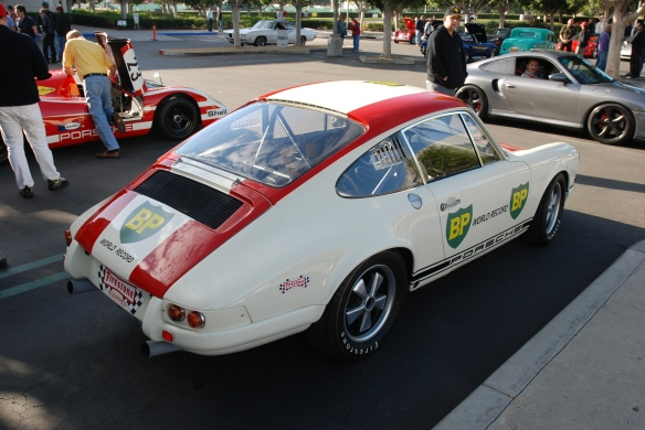 1967 Porsche 911R #001_ 3/4 rear view _cars&coffee/irvine_january 25, 2014