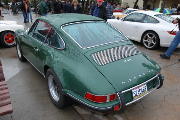 Irish green backdated 1986 Porsche 3.2 911 Carrera_3/4 rear view_Phoenix Club Car show & Swap_March 3, 2014