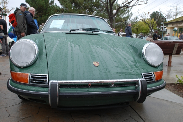 Irish green backdated 1986 Porsche 3.2 911 Carrera_front view_Phoenix Club Car show & Swap_March 3, 2014