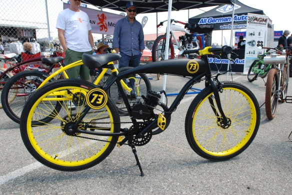 Dutchman Motorbikes_detail shot of #73 on display_California Festival of Speed_4/5/14