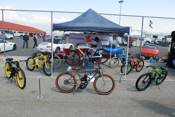 Dutchman Motorbikes_group shot of display_California Festival of Speed_4/5/14