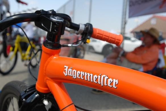 Dutchman Motorbikes_Jagermesiter logo on top tube shot_California Festival of Speed_4/5/14