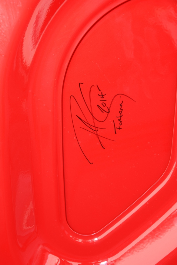 2014 Guards Red Porsche 991 Turbo S_underhood autograph_California Festival of Speed_4/5/14
