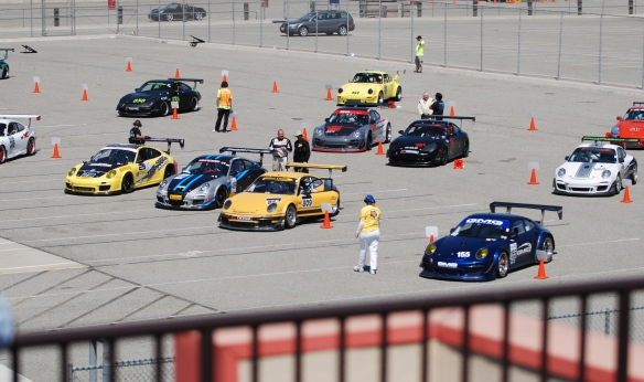 PCA club racing series _grid shot_California Festival of Speed_4/5/14