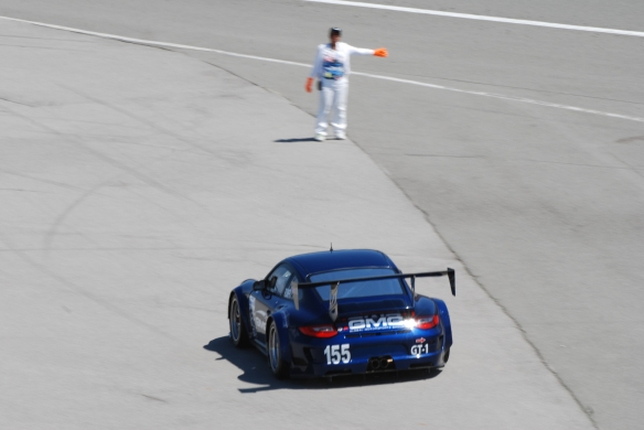 PCA club racing series _GMG's #155 GT3R entering track_California Festival of Speed_4/5/14