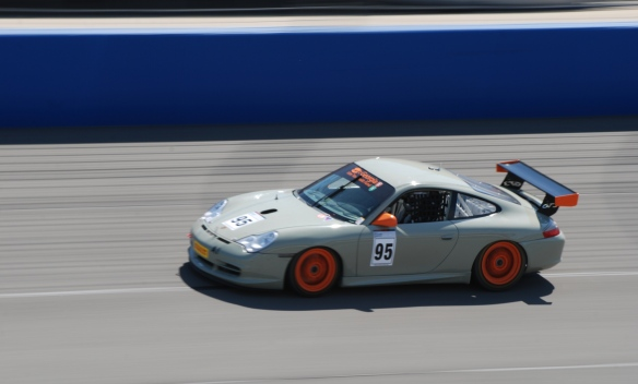 PCA club racing series_ GT3 Cup cars _Stone Grayw/orange accents #95_ GT3R at speed_California Festival of Speed_4/5/14