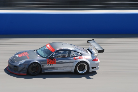 PCA club racing series_ GT3 Cup cars _Gray to white fade #271 at speed_California Festival of Speed_4/5/14
