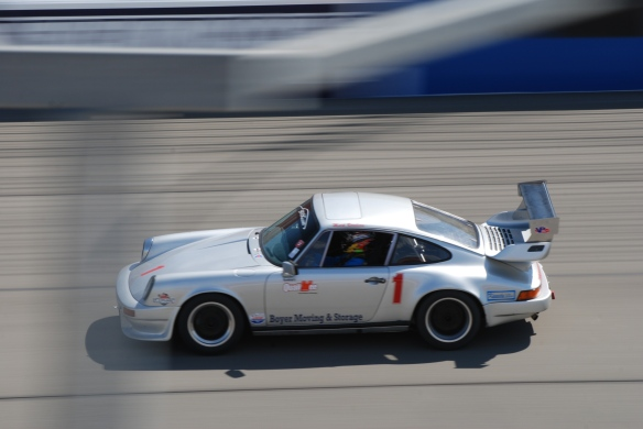 bbi autosport sponsored time trial _Silver Porsche #1 at speed_California Festival of Speed_4/5/14