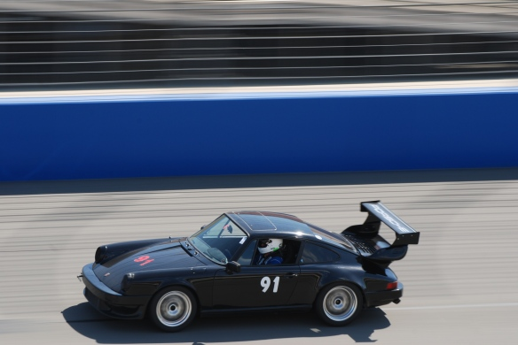 bbi autosport sponsored time trial _Black Porsche #91 at speed_California Festival of Speed_4/5/14