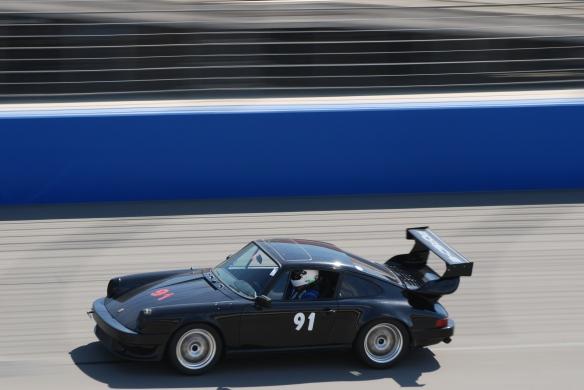 bbi autosport sponsored time trial _Black Porsche #91 at speed_California Festival of Speed_4/5/14
