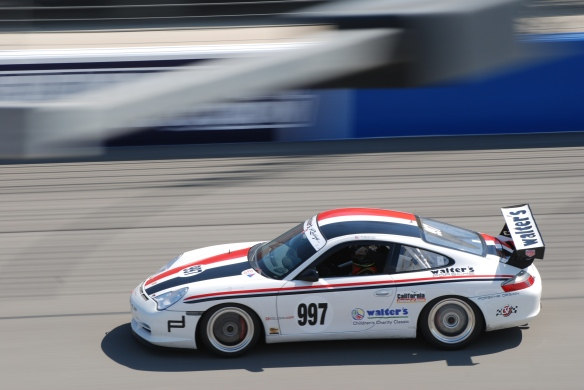bbi autosport sponsored time trial _white Porsche GT3 cup car #997 at speed_California Festival of Speed_4/5/14