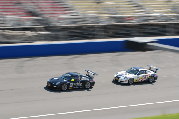 Pirelli GT3 Cup races_ GT3 cup cars on track /start of the race_California Festival of Speed_4/5/14