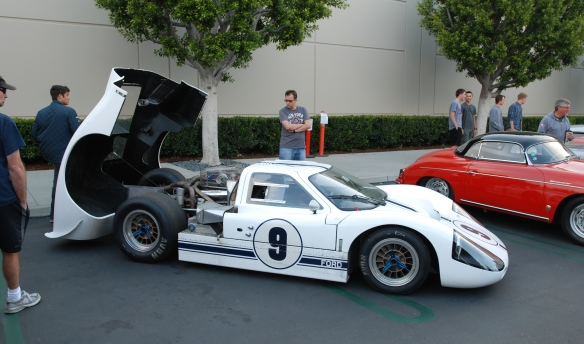 White 1967 Ford GT MK IV_3/4 side view_cars&coffee/irvine_May 10, 2014
