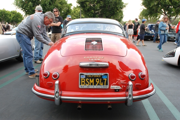 Red Porsche 356A speedster_rear view_cars&coffee/irvine_May 10, 2014