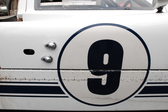 White 1967 Ford GT MK IV_door meatball #9_side view_cars&coffee/irvine_May 10, 2014
