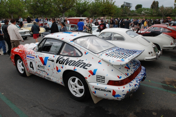 Pikes peak/Valvoline Porsche 964 rally car_3/4 side view_cars&coffee/irvine_May 10, 2014