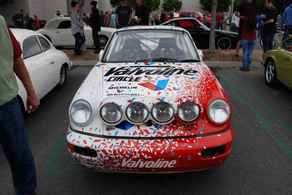 Pikes peak/Valvoline Porsche 964 rally car_front view_cars&coffee/irvine_May 10, 2014