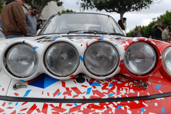 Pikes peak/Valvoline Porsche 964 rally car_driving light cluster detail_cars&coffee/irvine_May 10, 2014