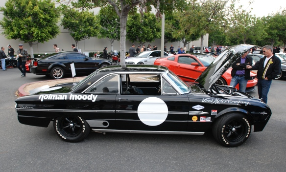 Black 1963 Ford Falcon Sprint /Trans AM racer_side view_cars&coffee/irvine_May 10, 2014