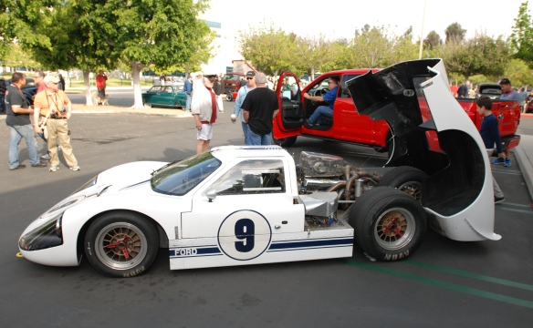 White 1967 Ford GT MK IV_drivers side view_cars&coffee/irvine_May 10, 2014