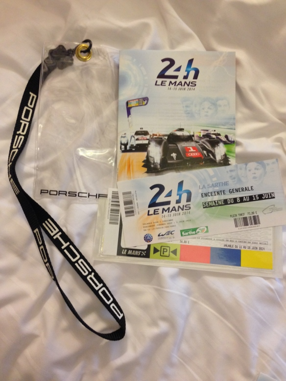 2014 24 Hours of Le Mans ticket and parking pass_June 2014