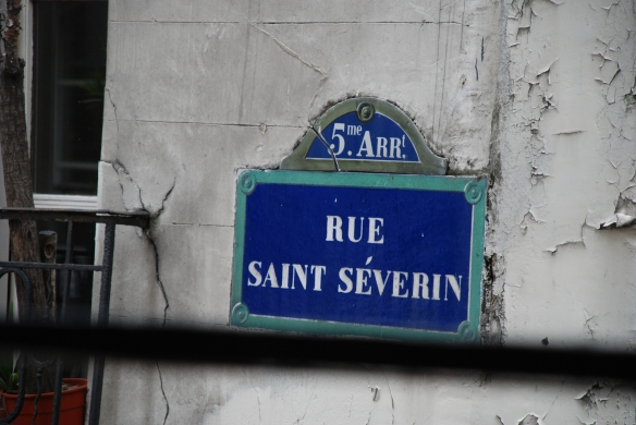 Rue Saint Severin street sign_Paris_ June 9, 2014