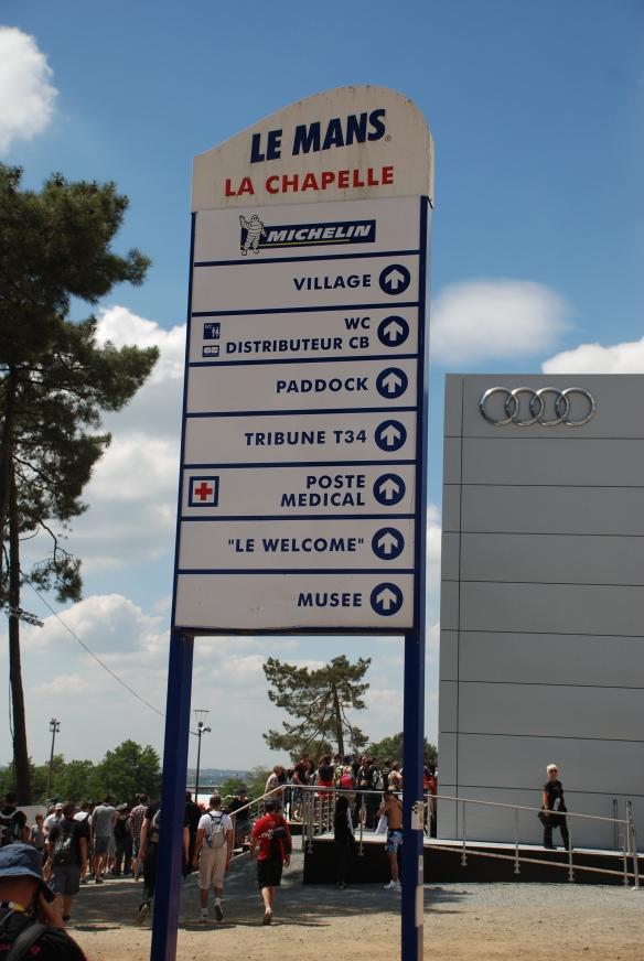 La Chapelle location_infield directiory sign_Le Mans24_June 14, 2014