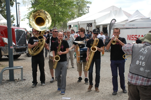 Brass band_village infield_Le Mans24_June 14, 2014