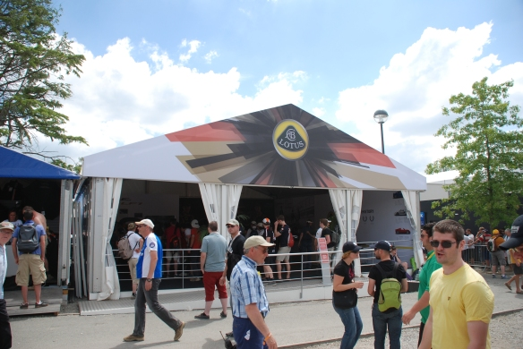 Lotus boutique_village infield_Le Mans24_June 14, 2014
