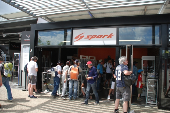 Spark scale model boutique_village infield_Le Mans24_June 14, 2014
