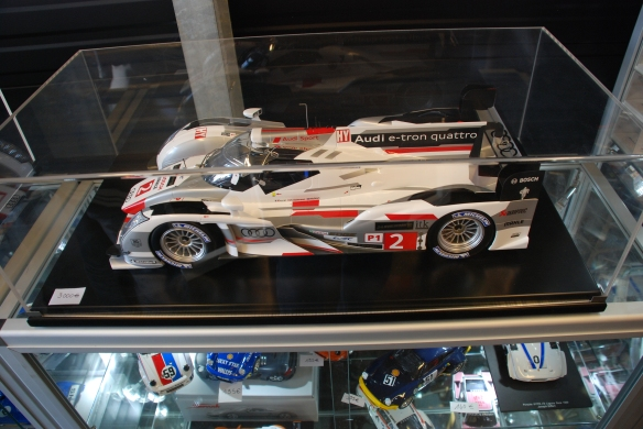 Spark sclae model boutique_ audi R-18 model for sale, 3000euros _village infield_Le Mans24_June 14, 2014