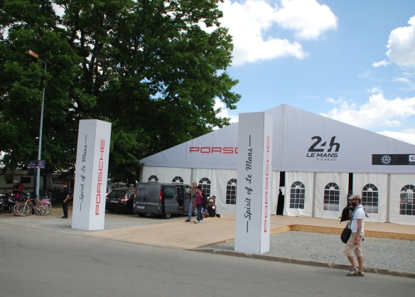 Porsche spirit of Le Mans display_infield village area_Le Mans24_June 14, 2014