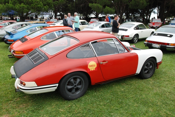 RGRuppe  gathering_Rolly's 1966 911 GT, 3/4 side view_2014 Dana Point concours_July 20, 2014