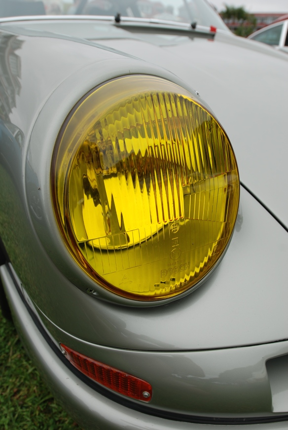 "Platinum colored ""Forza 6"" porsche 911_Amber headlight lens shot_2014 Dana Point concours_July 20, 2014"