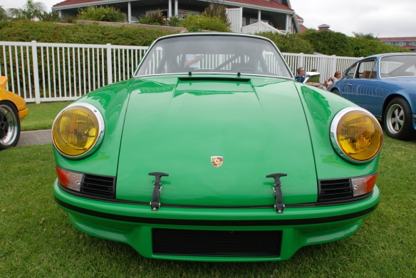 Viper green Porsche 911 RSR 3.6  re creation_front view_2014 Dana Point concours_July 20, 2014