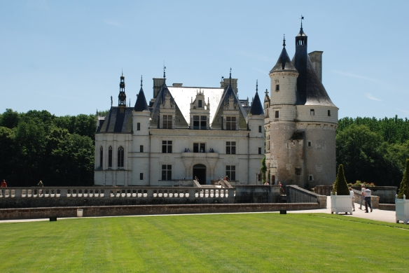 Chateau de Chenonceau_ view from the garden_Amboise France_June 13, 2014