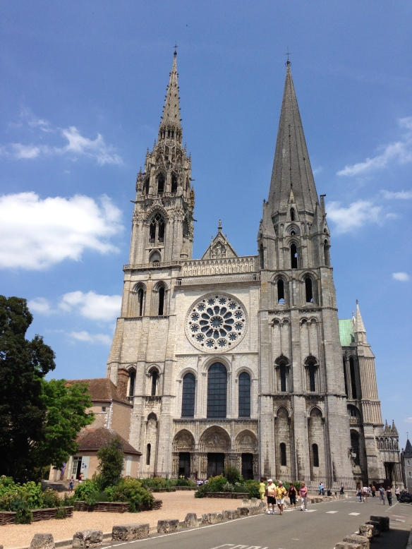 Chartres cathedral, France_front view_June 12, 2014