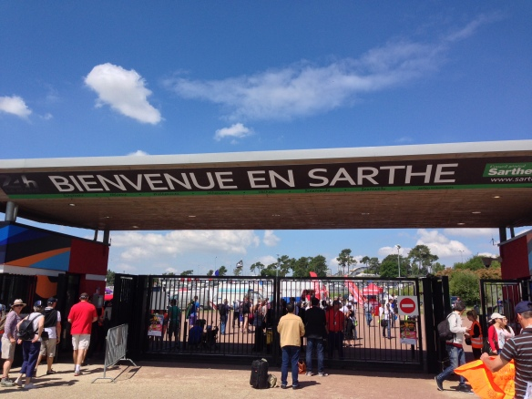 Entry portal into the Le Mans race track_from the Vert parking lot_June 14, 2014