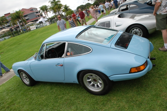 Gulf blue Porsche 911ST recreation_RGruppe_3/4 side view_2014 Dana Point concours_July 20, 2014