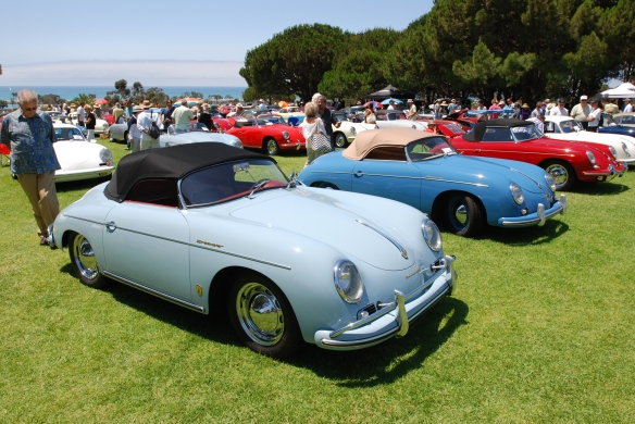 356 group shot_ robin eggs blue 356 in forground_2014 Dana Point concours_July 20, 2014