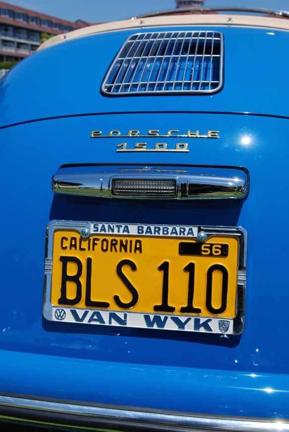 Blue Porsche 356 speedster_rear view_2014 Dana Point concours_July 20, 2014