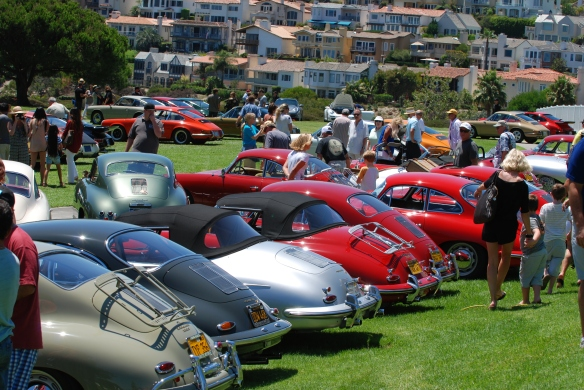 Group shot of concours class winners_ from back row_2014 Dana Point concours_July 20, 2014