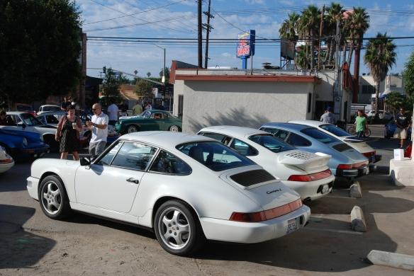 Porsche evolution row_1opposite end nview_3/4 rear view_ Luftgekuhlt event_Sunday September 7, 2014
