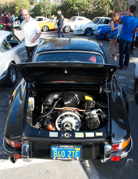 Ray's black 1970 Porsche 911S_engine shot_Luftgekuhlt event_Sunday September 7, 2014