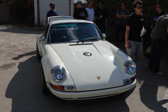 White Singer Porsche 911 coupe_front view_ Luftgekuhlt event_Sunday September 7, 2014