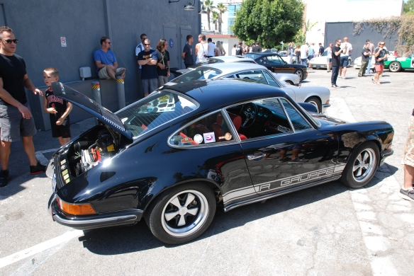 Ray's black 1970 Porsche 911S_3/4 side view with reflections_Luftgekuhlt event_Sunday September 7, 2014