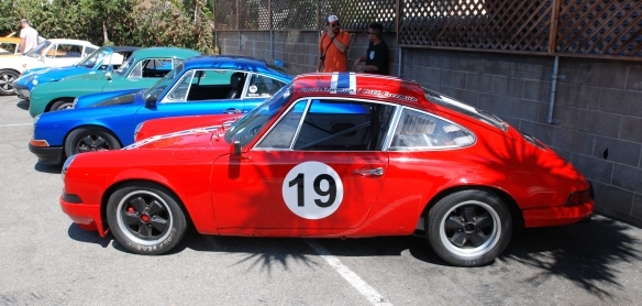 1969 Porsche 911S race car_Paul Newman & Bill Freeman_side view_Luftgekuhlt event_Sunday September 7, 2014