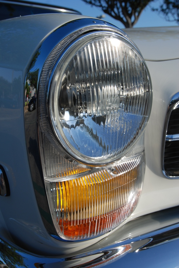 Mercedes Benz 280SL_headlight detail_cars&coffee_September 13, 2014