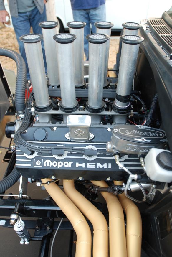 Chevrolet Bel -Air with Chrysler Hemi_motor detail _cars&coffee_October 18, 2014